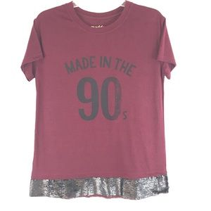 MADDEN Made in the 90's Graphic T-shirt Sequins M